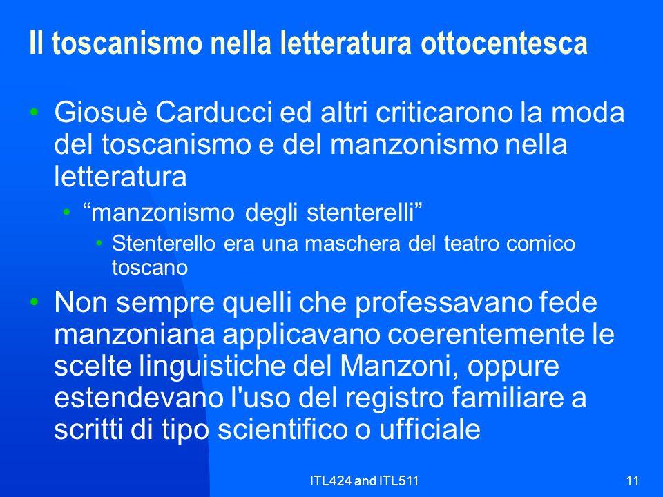 Il toscanismo nella letteratura ottocentesca