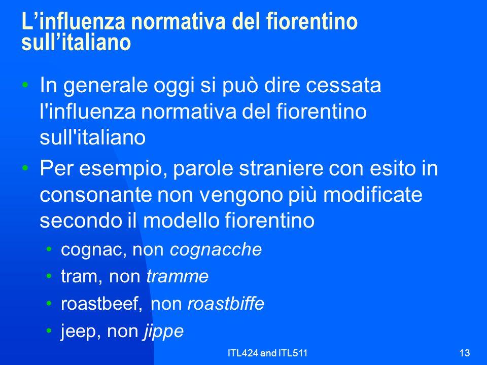 L'influenza normativa del fiorentino sull'italiano