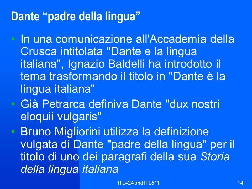 Dante padre della lingua