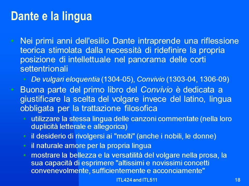 Dante e la lingua