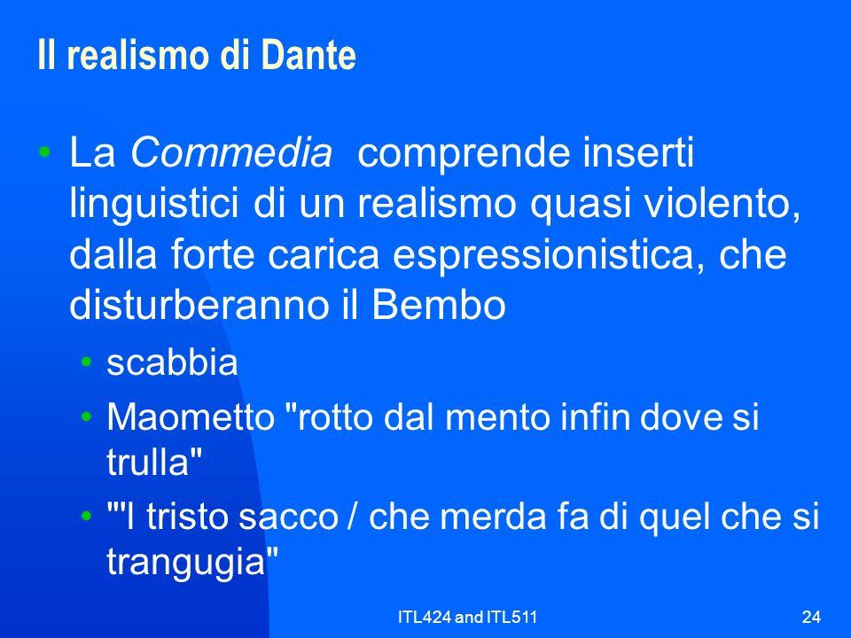 Il realismo di Dante