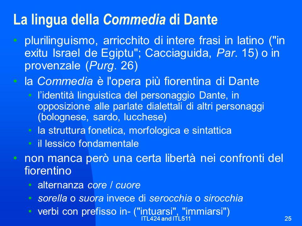 La lingua della Commedia di Dante