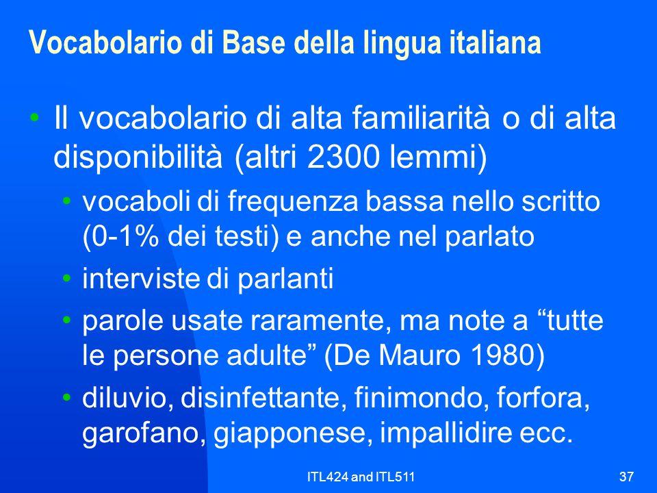 Vocabolario di Base della lingua italiana