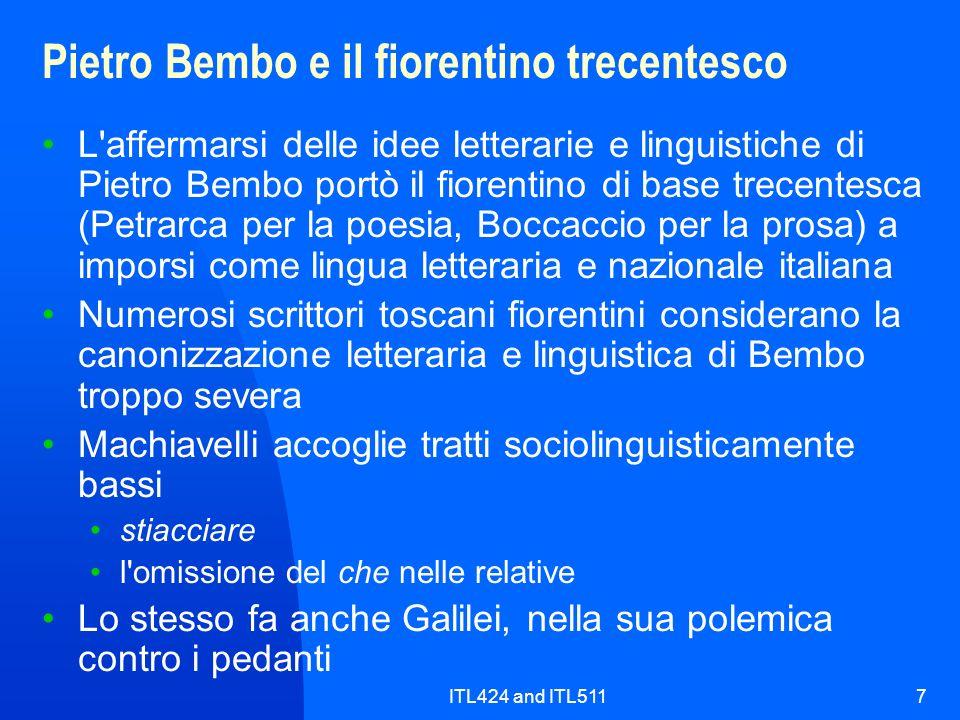 Pietro Bembo e il fiorentino trecentesco