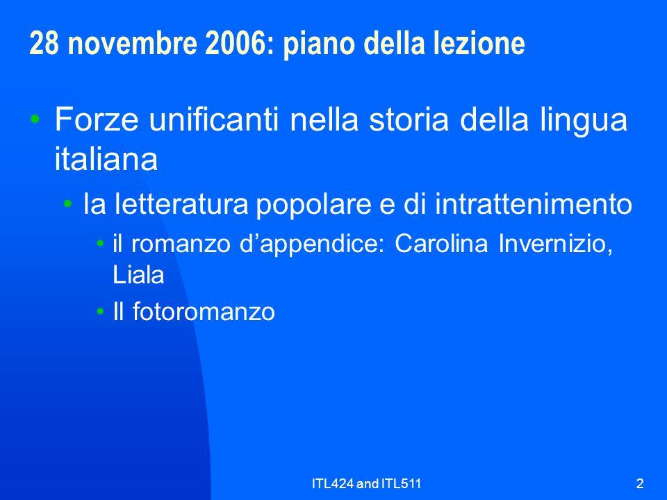 28 novembre 2006: piano della lezione