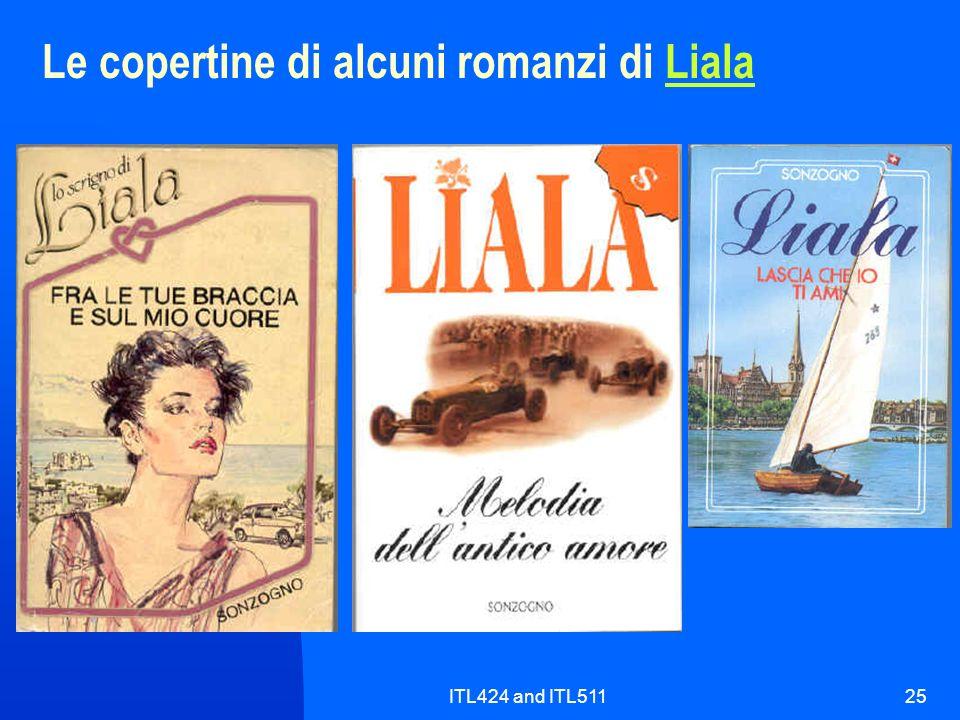 Le copertine di alcuni romanzi di Liala