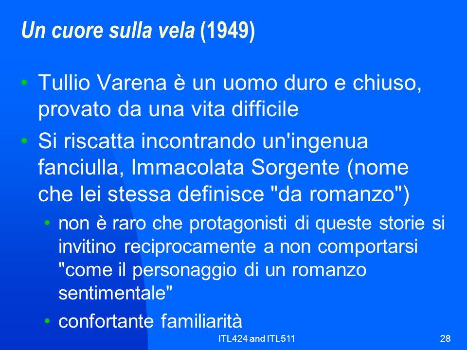 Un cuore sulla vela (1949) Tullio Varena è un uomo duro e chiuso, provato da una vita difficile.
