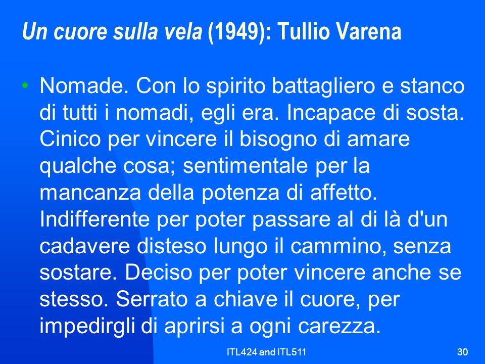 Un cuore sulla vela (1949): Tullio Varena