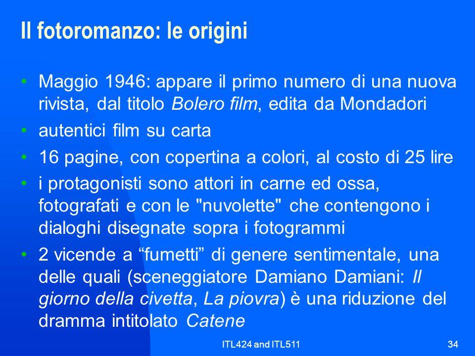 Il fotoromanzo: le origini