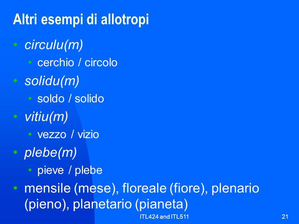 Altri esempi di allotropi