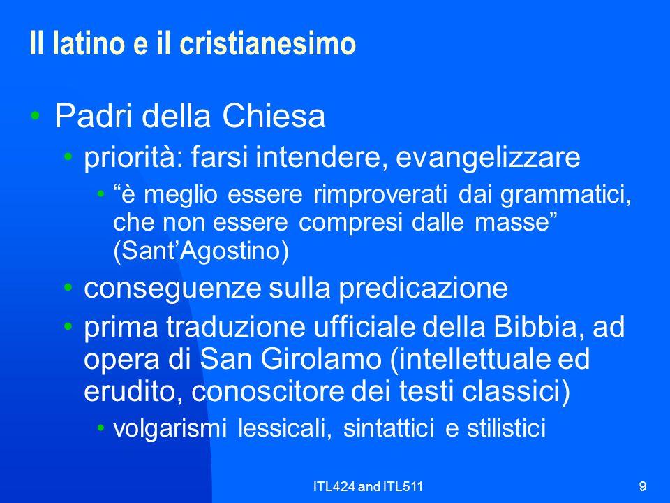 Il latino e il cristianesimo