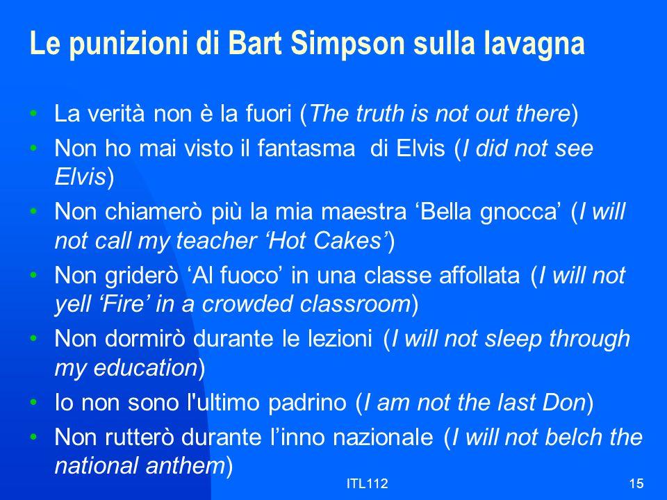 Le punizioni di Bart Simpson sulla lavagna