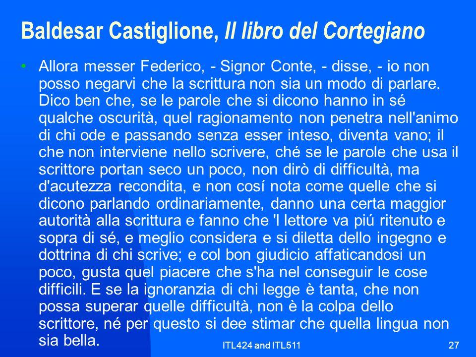 Baldesar Castiglione, Il libro del Cortegiano