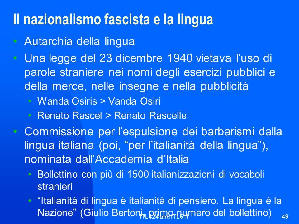 Il nazionalismo fascista e la lingua