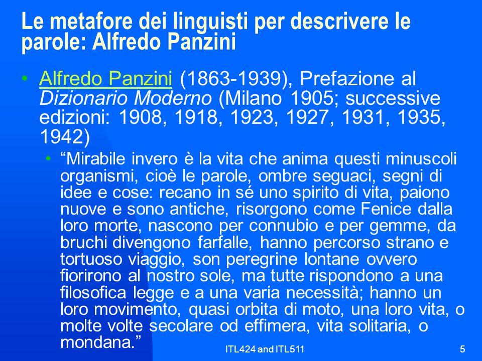 Le metafore dei linguisti per descrivere le parole: Alfredo Panzini