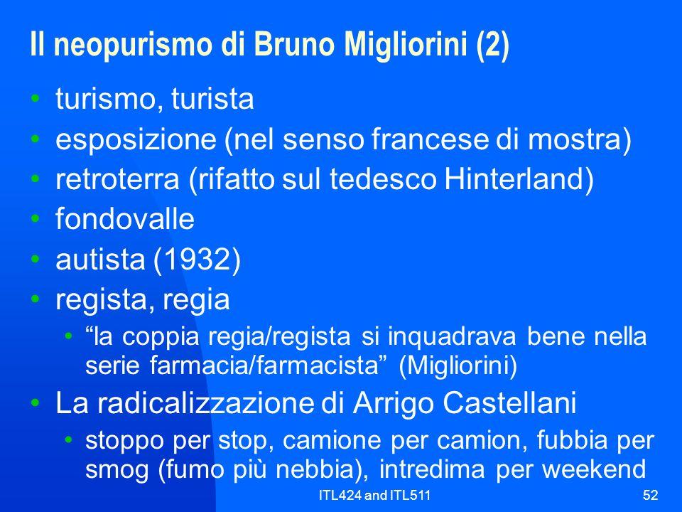 Il neopurismo di Bruno Migliorini (2)