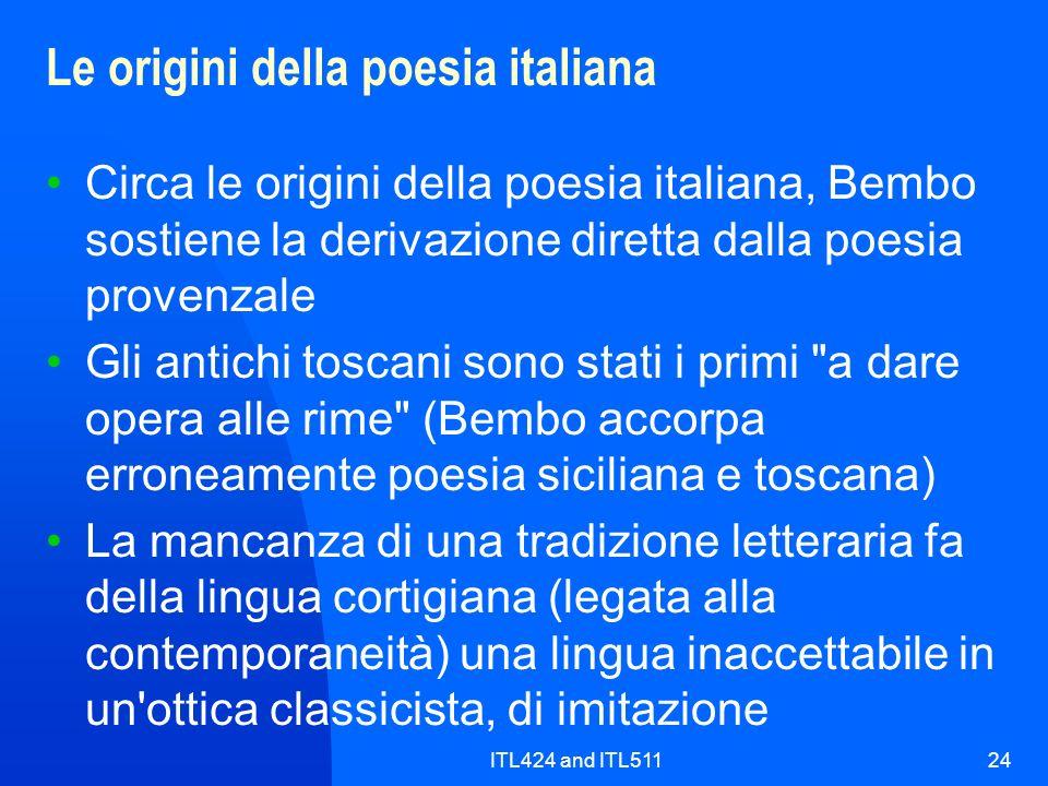 Le origini della poesia italiana