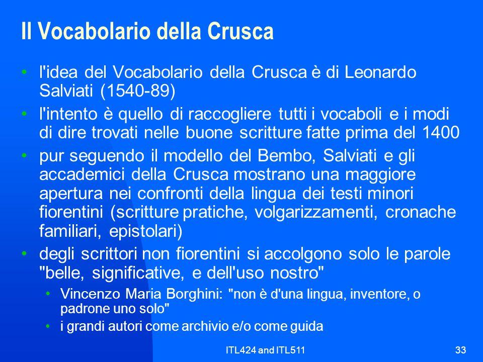 Il Vocabolario della Crusca