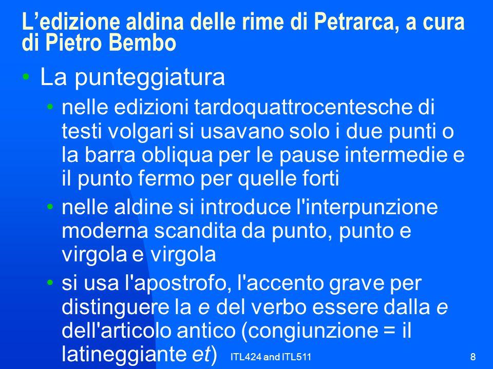 L'edizione aldina delle rime di Petrarca, a cura di Pietro Bembo