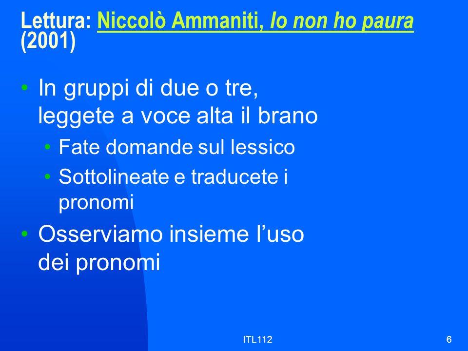 Lettura: Niccolò Ammaniti, Io non ho paura (2001)