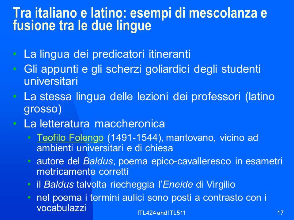 Tra italiano e latino: esempi di mescolanza e fusione tra le due lingue