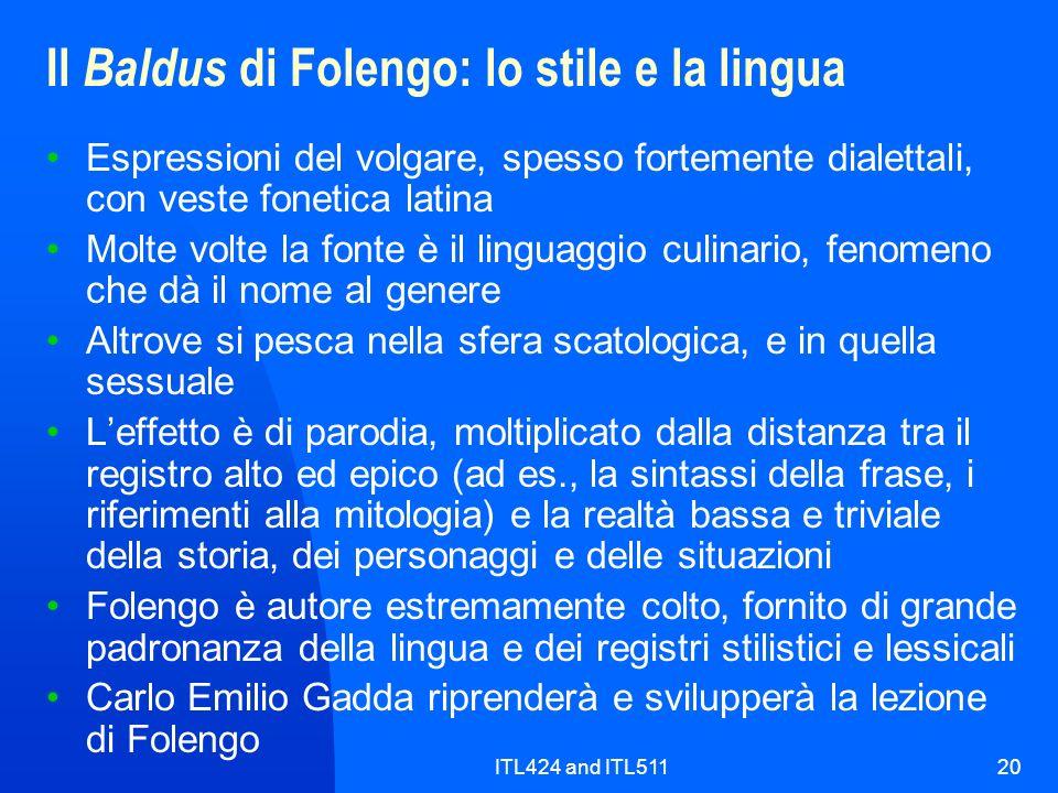 Il Baldus di Folengo: lo stile e la lingua