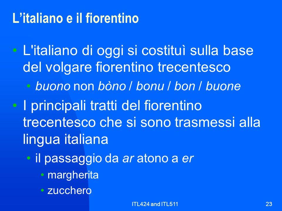 L'italiano e il fiorentino