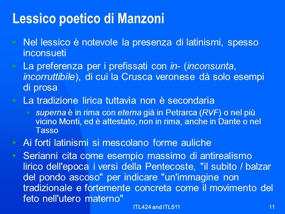 Lessico poetico di Manzoni