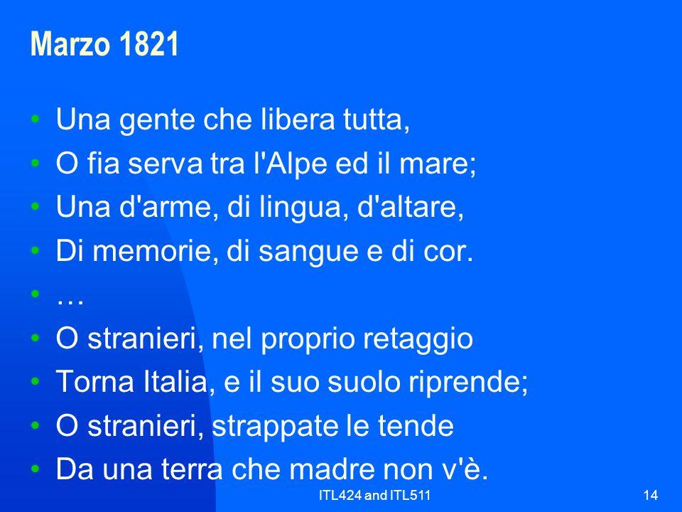 Marzo 1821 Una gente che libera tutta,