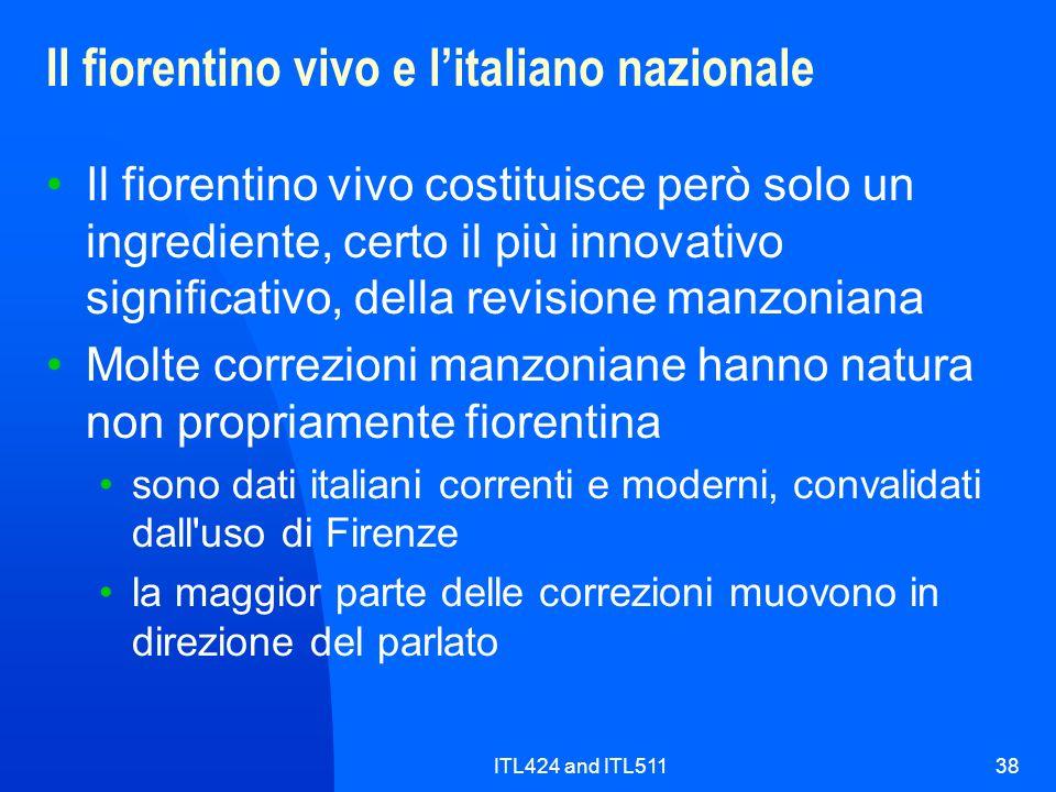 Il fiorentino vivo e l'italiano nazionale