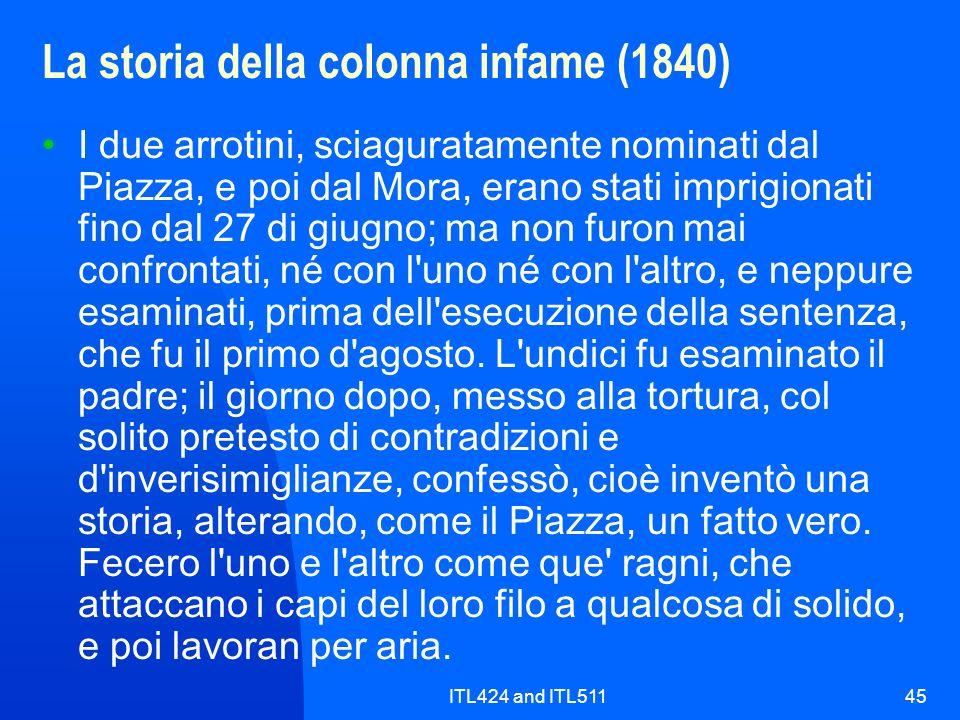 La storia della colonna infame (1840)