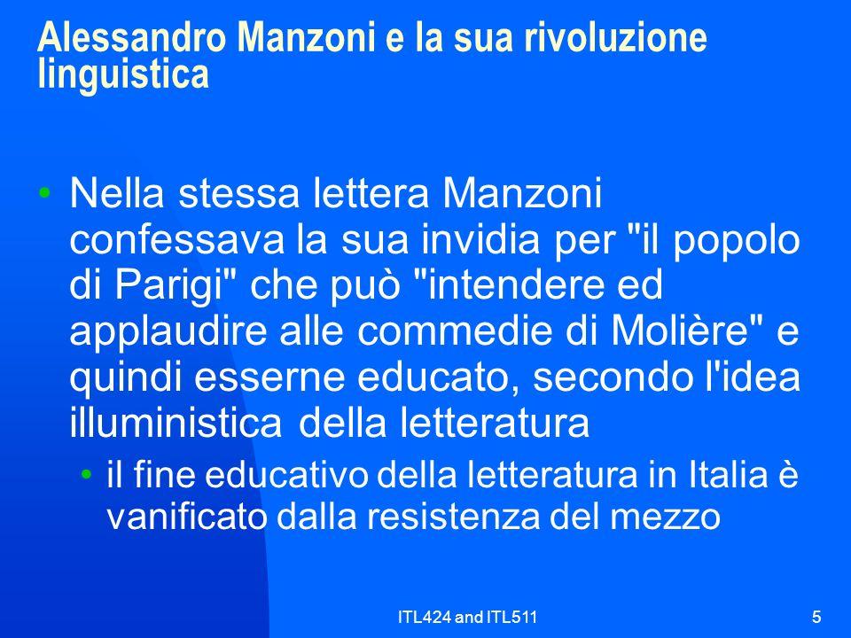 Alessandro Manzoni e la sua rivoluzione linguistica