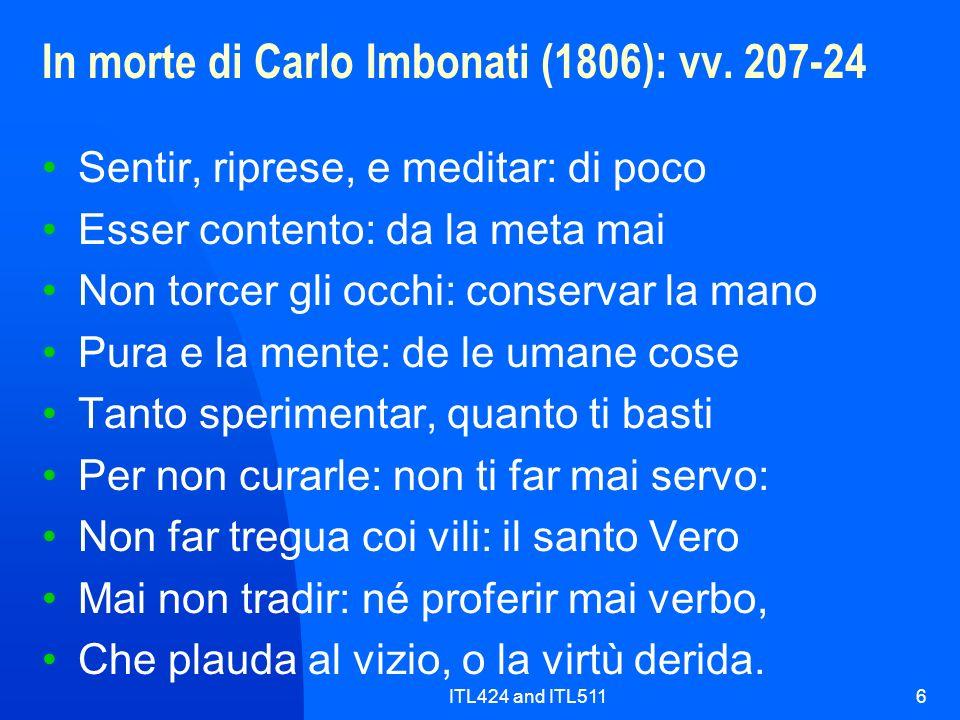 In morte di Carlo Imbonati (1806): vv. 207-24