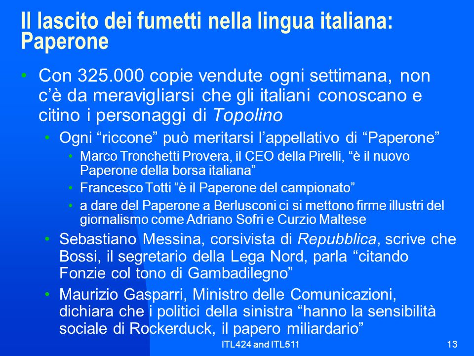 Il lascito dei fumetti nella lingua italiana: Paperone