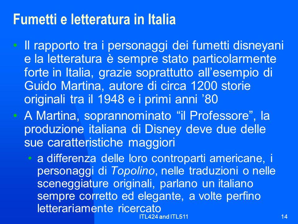 Fumetti e letteratura in Italia