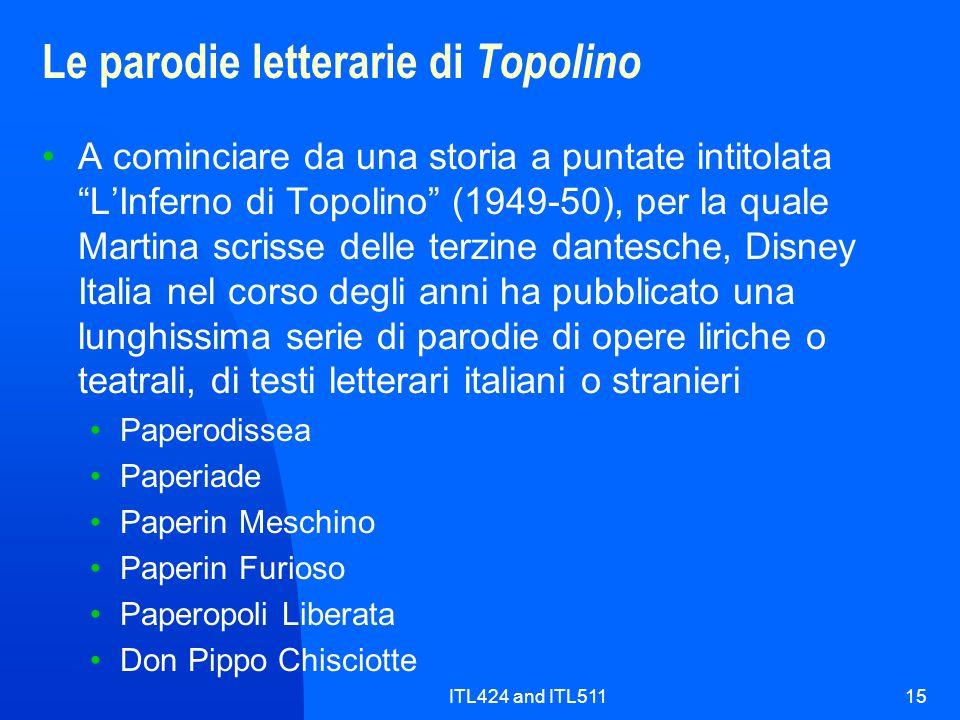 Le parodie letterarie di Topolino