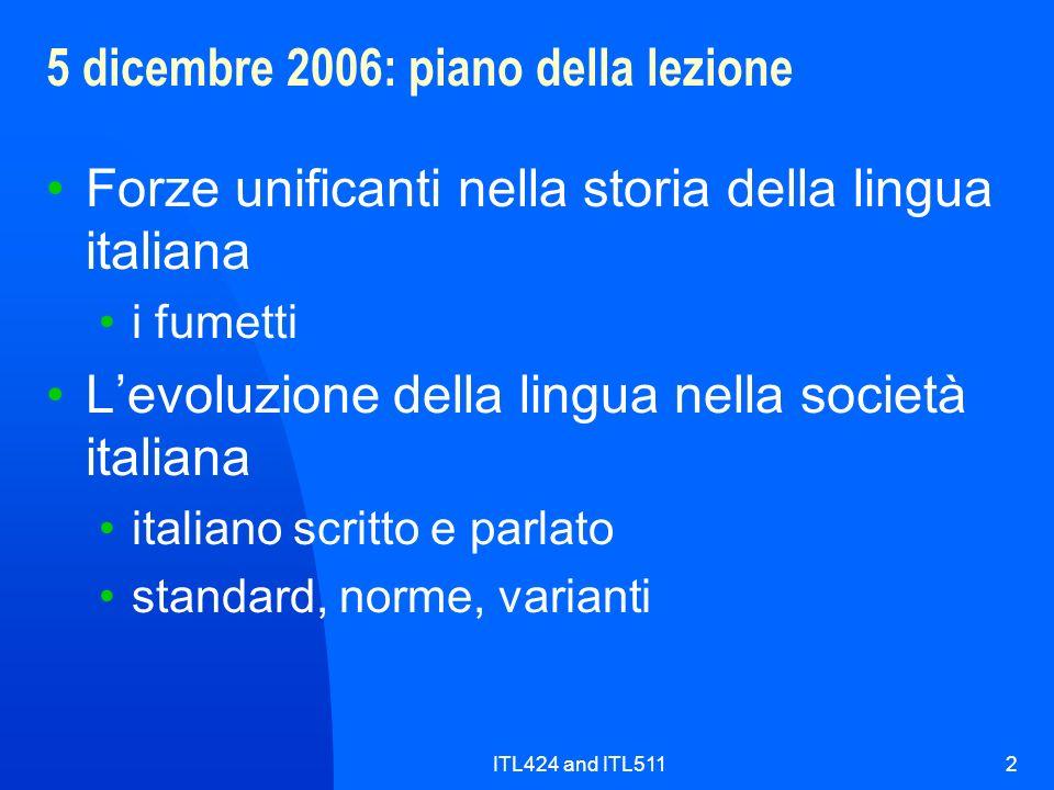 5 dicembre 2006: piano della lezione