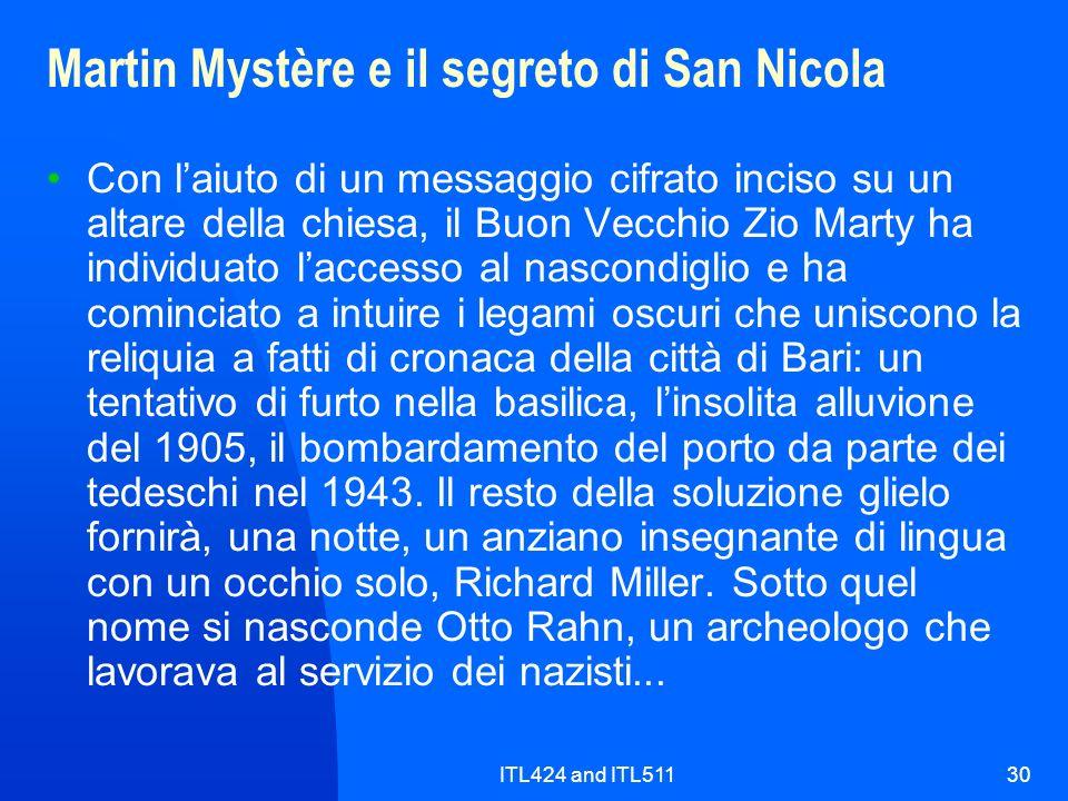 Martin Mystère e il segreto di San Nicola