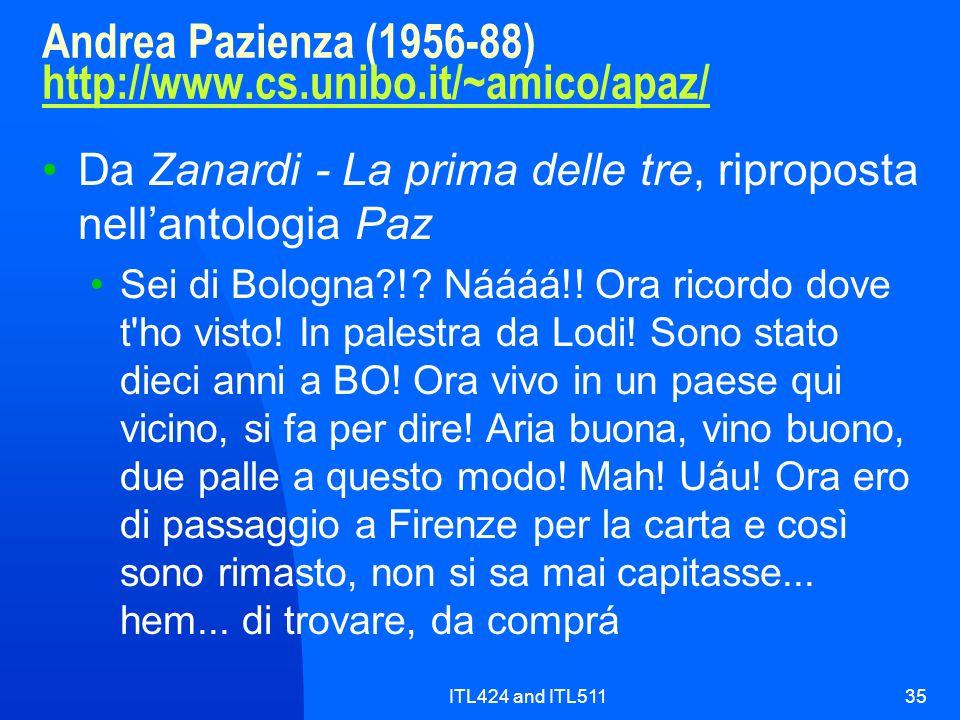 Andrea Pazienza (1956-88) http://www.cs.unibo.it/~amico/apaz/