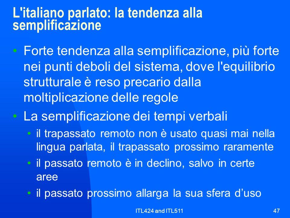 L italiano parlato: la tendenza alla semplificazione