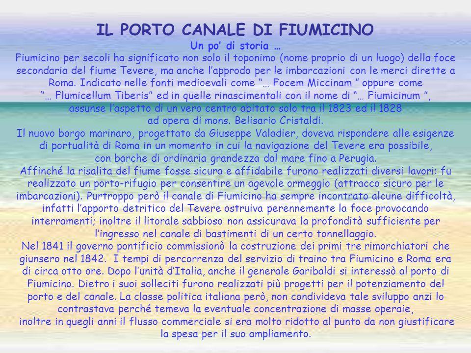 IL PORTO CANALE DI FIUMICINO