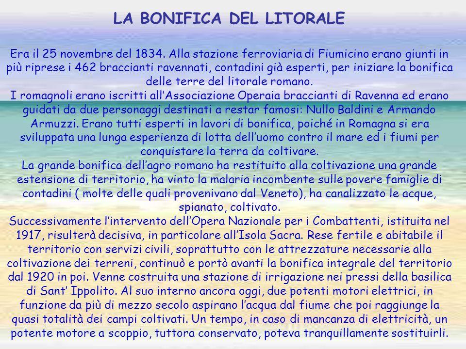 LA BONIFICA DEL LITORALE