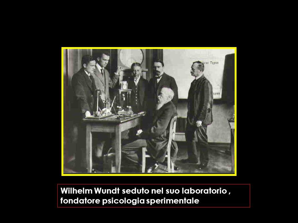 Wilhelm Wundt seduto nel suo laboratorio , fondatore psicologia sperimentale