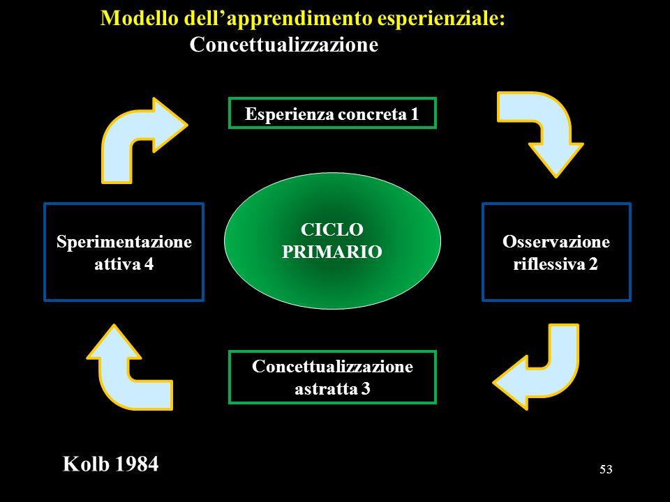 Modello dell'apprendimento esperienziale: Concettualizzazione
