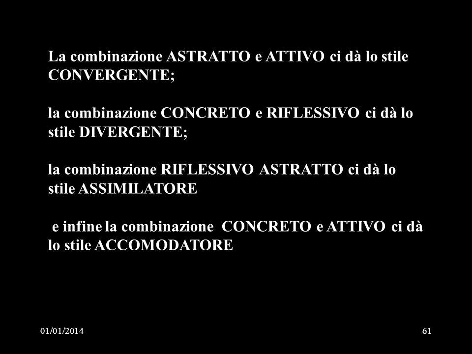 La combinazione ASTRATTO e ATTIVO ci dà lo stile CONVERGENTE;