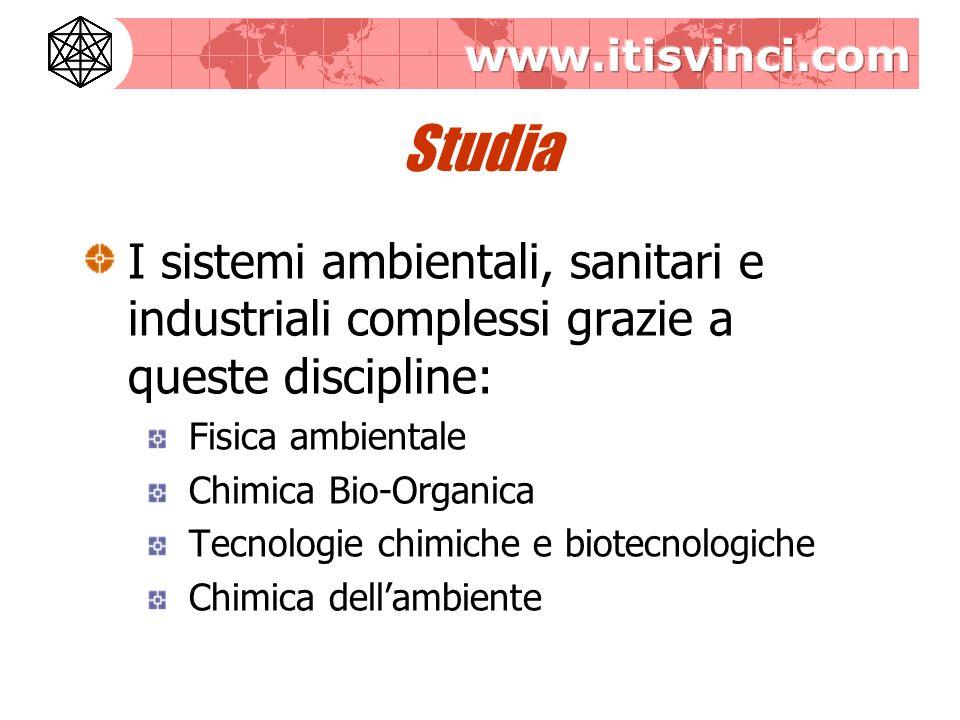 Studia I sistemi ambientali, sanitari e industriali complessi grazie a queste discipline: Fisica ambientale.