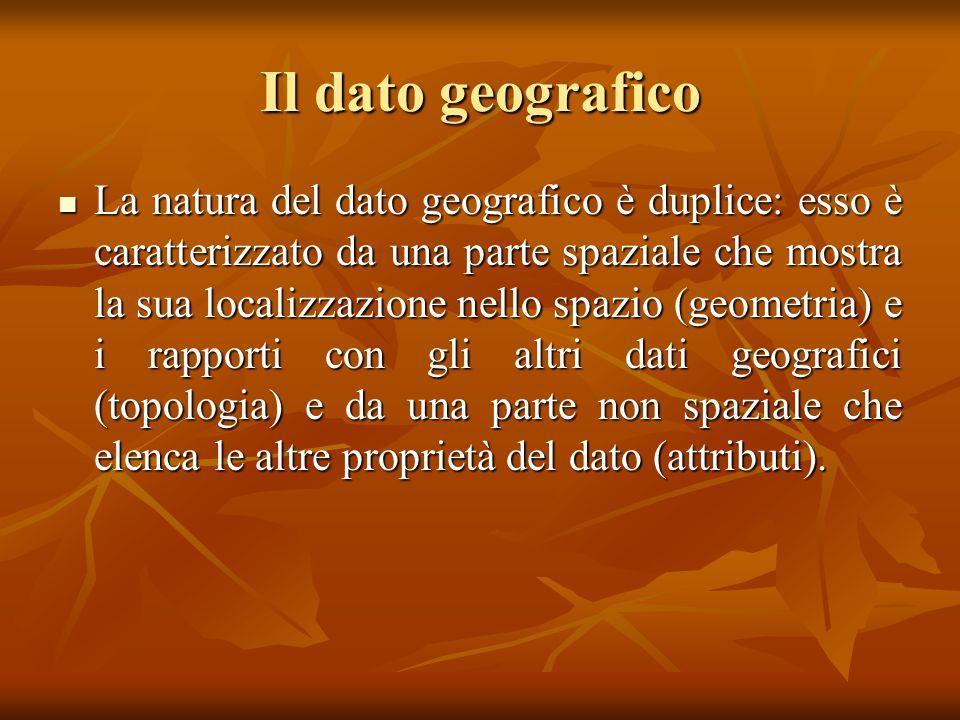 Il dato geografico