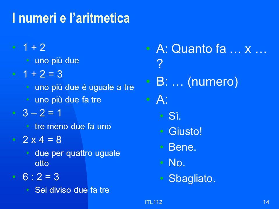 I numeri e l'aritmetica
