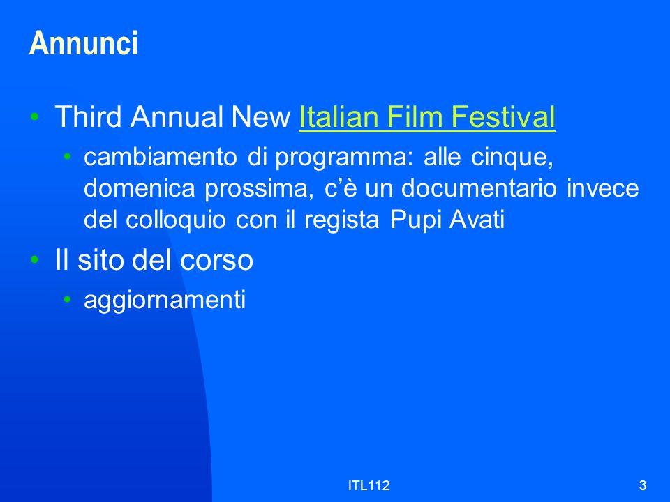 Annunci Third Annual New Italian Film Festival Il sito del corso