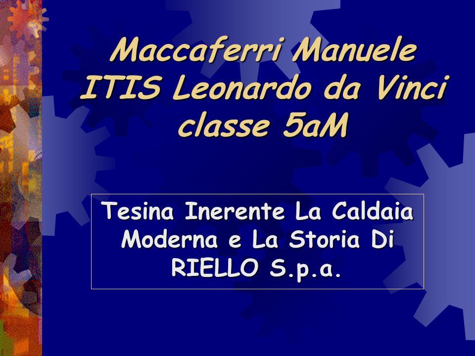 Maccaferri Manuele ITIS Leonardo da Vinci classe 5aM